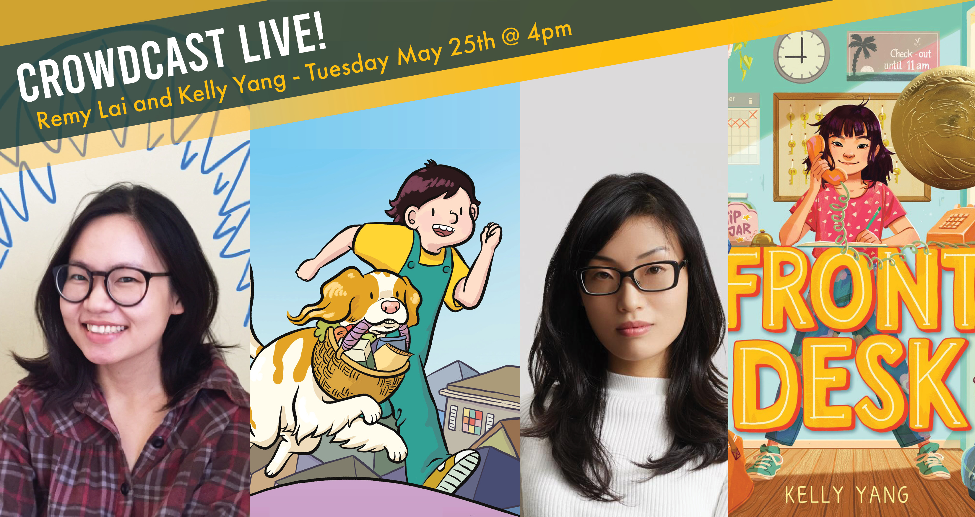 CrowdCast LIVE event with Remy Lai and Kelly Yang