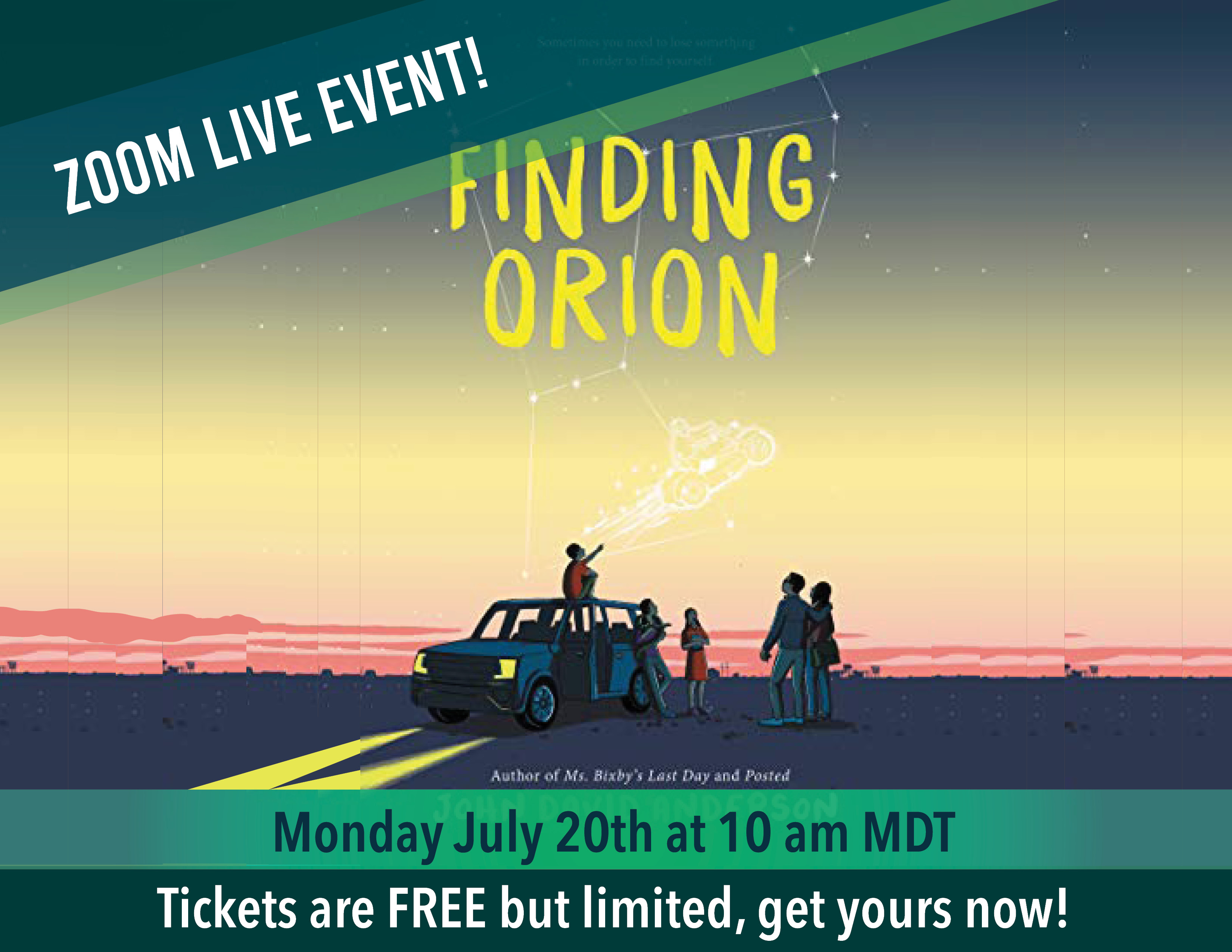 July Kids Book Club - Finding Orion - Zoom