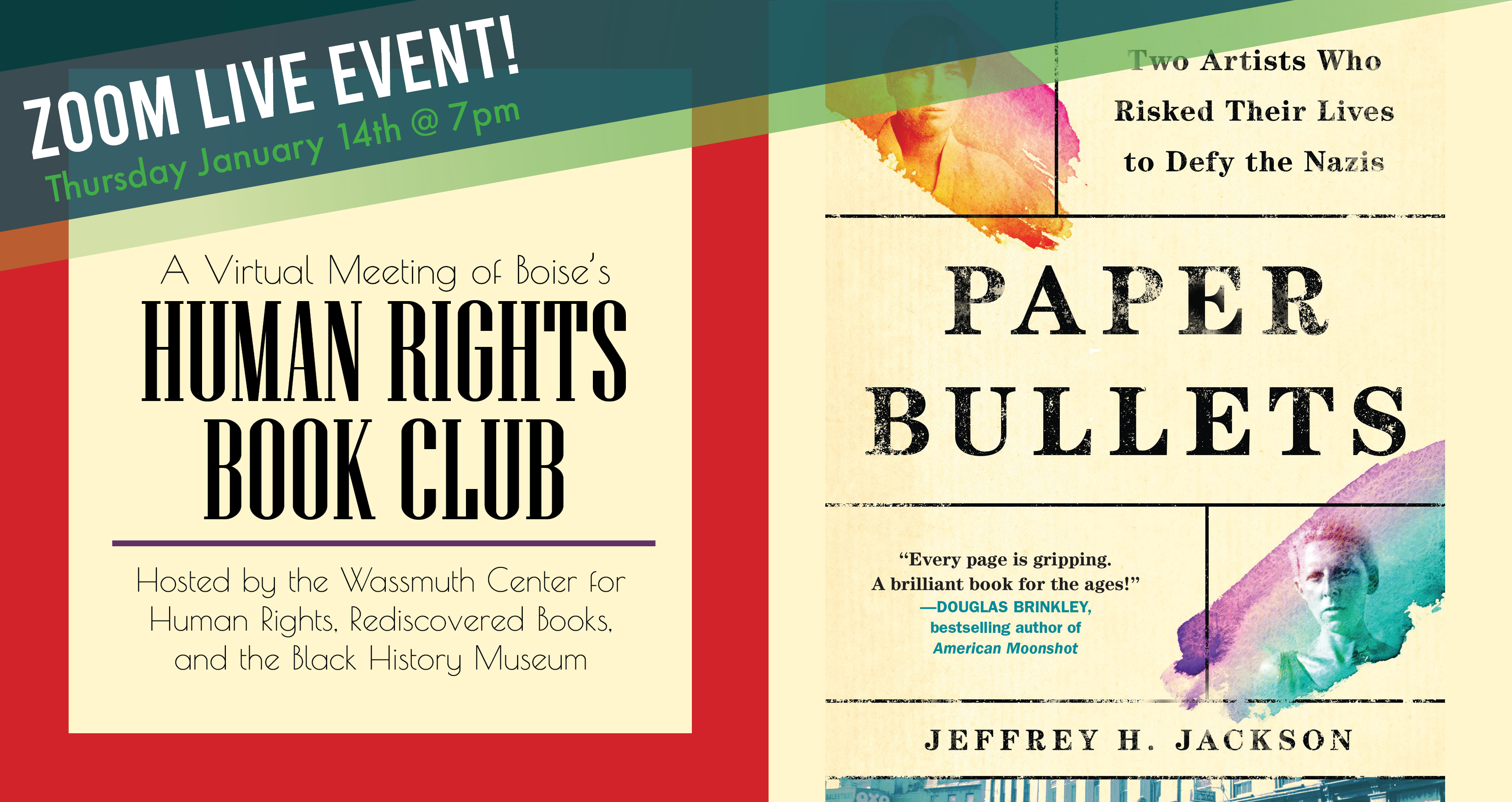Human Rights Book Club January - Paper Bullets