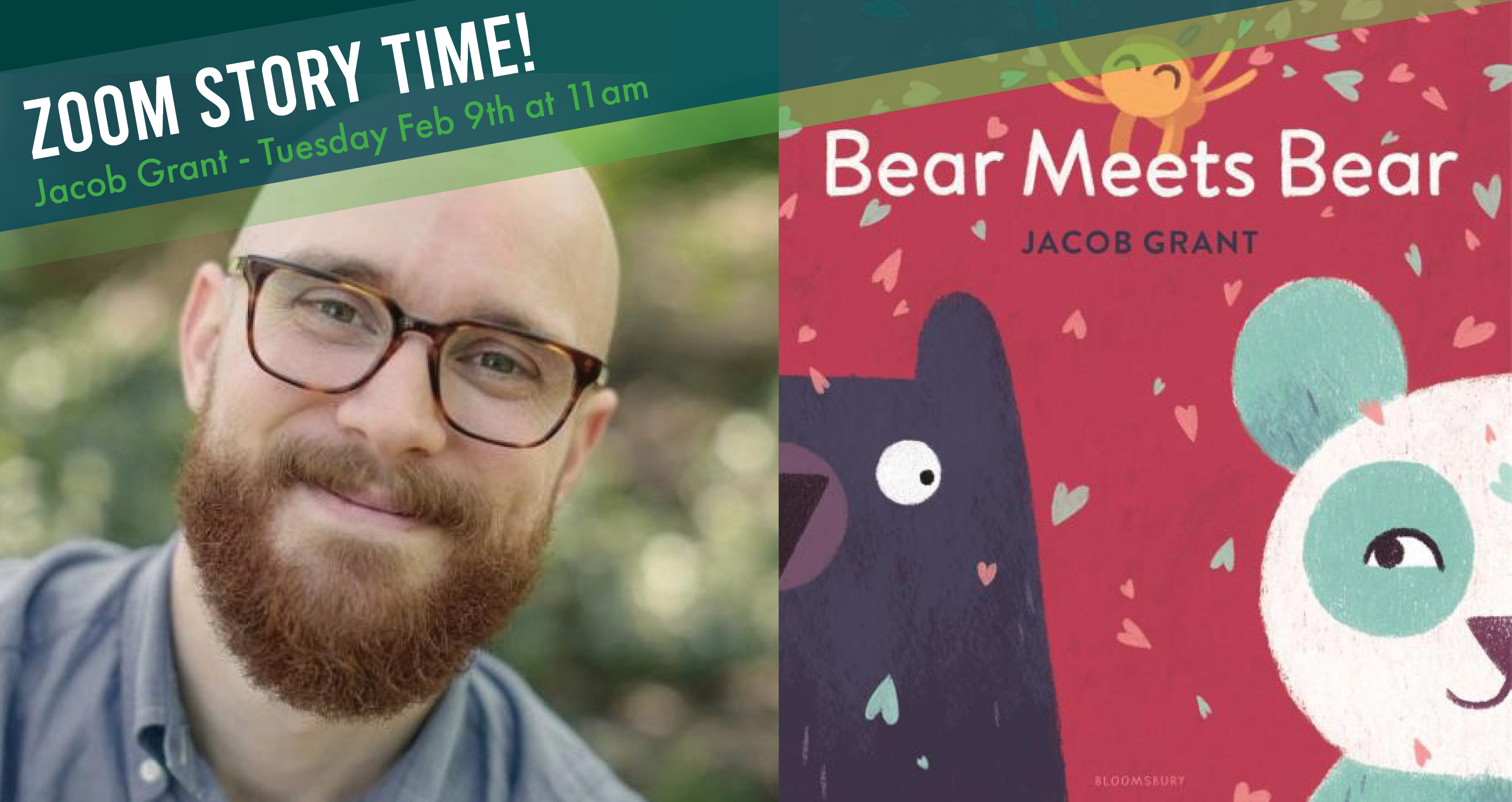 Pre-K Story time with Jacob Grant - Zoom