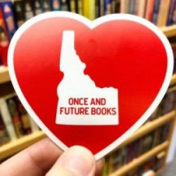 Once and Future Books heart sticker