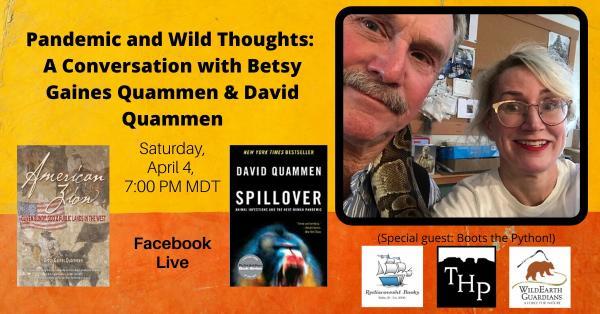 Facebook Live event with Betsy Gaines Quammen and David Quammen